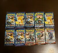 Pokemon TCG XY Evolution/Burning Shadows Booster Packs (Factory Sealed) 10 total