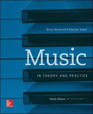 MUSIC IN THEORY AND PRACTICE - BENWARD, BRUCE/ SAKER, MARILYN - NEW PAPERBACK BO
