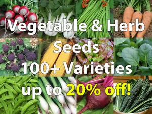 Vegetable & Herb Seeds Mixed Pack 100+ Varieties/Collection/Mix - only 79p each!