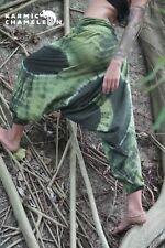 Harem Hippie Pants Tie Dye Green Yoga Festival Loose Boho Festival Gypsy Aladdin