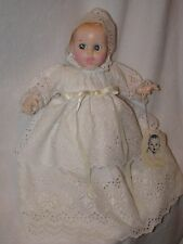 """12"""" Gerber Baby Doll Wearing White Eyelet Gown 1976"""