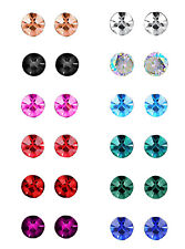 12 Pairs Chic Fashion Style Women Party Beauty Pearl Round Ear Stud Earring Set