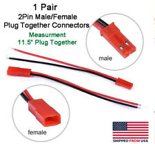 Jst 2pin Connector Malefemale Plug Cable 115 Leads Rc Lip Batteryled Lights