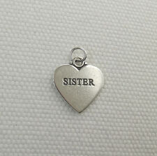 SISTER HEART CHARM 925 STERLING SILVER
