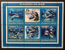 MOZAMBIQUE DOLPHIN STAMPS SHEET 6V 2002 MNH MARINE LIFE SEA OCEAN WILD ANIMALS