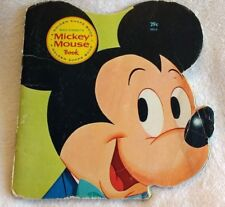 1965 Walt Disney's Mickey Mouse Book A Golden Shape Book Eighth Printing 5914