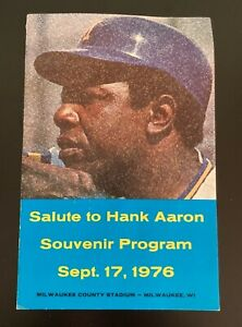 1976 Salute to Hank Aaron Souvenir Program 9-17-76 - Atlanta Braves