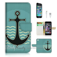 ( For iPhone 7 Plus ) Wallet Case Cover P0609 Anchor Sailor