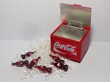 1:12 SCALA Coca Cola Cooler box con 6 bottiglie e ghiaccio casa delle bambole COKE pub drink