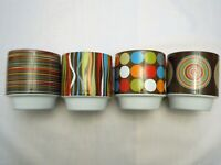 Caribou Coffee Cups 8 Ounce Set of 4 Made Exclusively For Caribou Coffee EUC