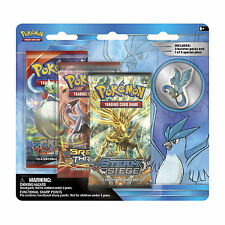 Pokemon Cards: Legendary 3 Pack Blister - Articuno - 3 Boosters + Pin Badge