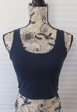 Authentic WET SEAL Ambiance Navy Blue Crop Tank Top Size Large NEW NWT