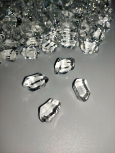 Clear Smooth Fire Glass 3kg (6.6lb)  For Fire Pits Gas Fires And Ethanol Burners