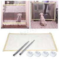 Portable Pets Enclosure Mesh Safety Folding Gate Guard Fences Kit For Dog