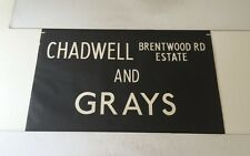 """Grays Essex Linen Bus Blind 33""""- Chadwell Brentwood Road Estate Grays"""