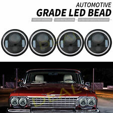"""4x 5.75"""" Halo Drl/Turn Signal Led Projector H4 Headlights Assembly Conversion"""