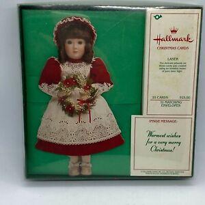 Hallmark Vintage Laser Cut Doll Christmas Cards New