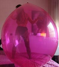 "2x 45""-50"" Riesenballons KRISTALL MGNT+KLAR extrem-belastbar, Party-Spass-Looner"