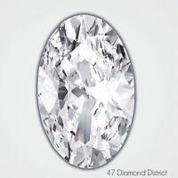 1.00ct. E-SI1 Excellent Cut Oval Shape AGI Certified Diamond 6.90x5.52x3.80mm