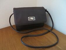 FOSSIL BROWN LEATHER SHOULDER ORGANIZER BAG PURSE *VINTAGE*