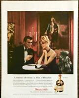 1961 Drambuie Liqueur PRINT AD Black Tie Couple Bonnie Prince Charlie Portrait