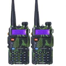 Camuflaje 2PCS Baofeng UV-5R UHF VHF de Doble banda Ham Radio de dos vías Walkie Talkie