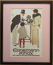 Cine camera poster, 20''x16'' frame, Art deco Advertisement Poster