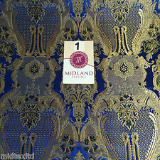 "Indian Banarsi Gold Metallic Ornamental floral brocade fabric M373 Mtex 40"" wide"