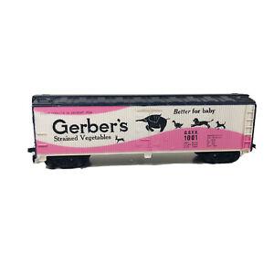 HO Tyco Gerber's Baby Food Advertising Reefer Car GSVX # 1001  Billboard Train