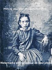 Vintage/Old 1800s Creepy/Scary/Weird/Strange Demon/Vampire Little Girl Photo