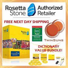 Aprende Inglés con ROSETTA STONE® ENGLISH 1 2 3 4 5 + Diccionario Español NUEVO
