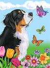 Butterfly Garden Flag - Bernese Mountain Dog 980511