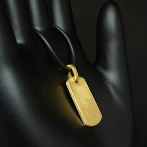 24K SOLID GOLD(.999 BULLION GRADE) DOG TAG PENDANT