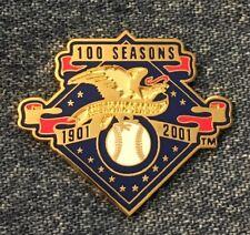American League Logo Lapel Pin~100 Seasons~Peter David~Major League Baseball~MLB