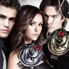 Vampire Diaries Elena Gilbert Antique Silver Locket Necklace Fashion Retro