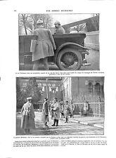 WWI Roumanie King Ferdinand of Romania Automobile Général Berthelot ILLUSTRATION