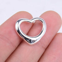 Designer Inspired 925 Sterling Silver Large Love OPEN Heart Pendant Jewelry H442