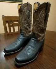 Lucchese Men Carl Chocolate Sand Shark Cowboy Western Boots Size 10.5 D *M3105