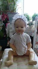 60cm große Babypuppe antik hübsdches altes Puppenkind um 1920