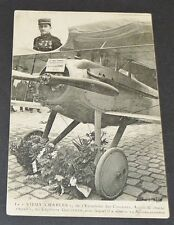 """CPA GUERRE 14-18 AVIATION GUYNEMER """"VIEUX CHARLES"""" CHASSE SPAD CIGOGNES"""