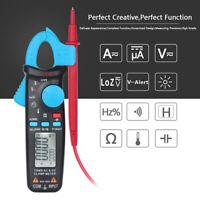 600V Digital Pocket Clamp Meter Multimeter Amps AC DC Current Volt Ohm Tester6K