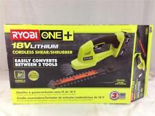New Ryobi 18V Lithium Cordless Shear Shrubber Hedge Trimmer P2910