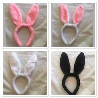 Cute Easter Bunny Rabbit Ear Headband Hair Band Costumes Dress Up Black Pink