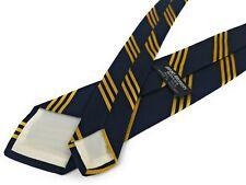 Vintage BROOKS BROTHERS Tie 1950s BB #1 Rep Stripe Navy Blue Gold Necktie