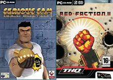 serious sam gold (games 1&2) USED      &       red faction 2 NEW&SEALED