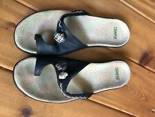 Camper 39 Black Leather sandals US 9 Flip Flop shoes