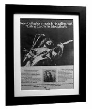 RORY GALLAGHER+Calling Card+POSTER+AD+RARE+ORIGINAL 1977+FRAMED+FAST+GLOBAL SHIP