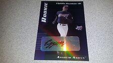ELPIDIO GUZMAN SIGNED AUTOGRAPHED 2001 LEAF LIMITED ROOKIE CARD RC CERTIFIED #D