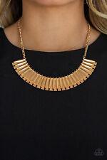 Paparazzi jewelry geometric gold plates Necklace w/earring