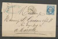 1867 Lettre N°22 GC 3426 Sollies-Pont VAR(78) Ind 4 cote 15€ X1966